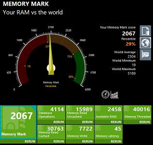 Lenovo Ideapad slim 360i 17 Memory Mark 計測結果