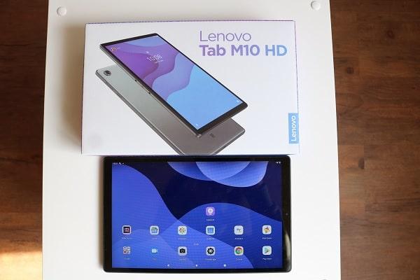 Lenovo Tab M10 HD (2nd Gen)の本体と箱