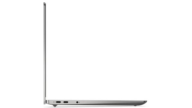 Lenovo IdeaPad 4Gの開いた状態の側面
