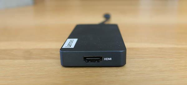 Lenovo USB Type-C 7-in-1 ハブのインターフェイス