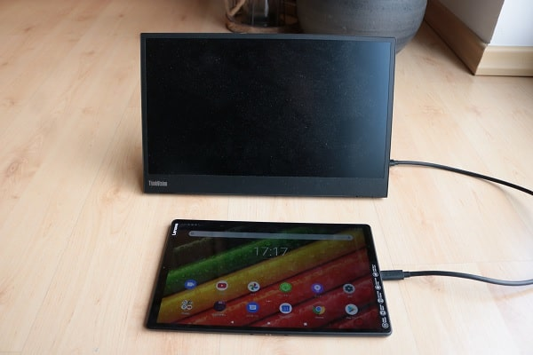 Lenovo tab M10 FHD Plus Gen 2を外付けモニターに接続