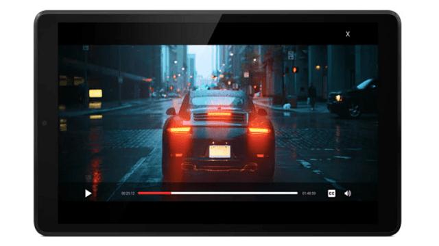 Lenovo Tab M8(FHD)のディスプレイ 動画視聴