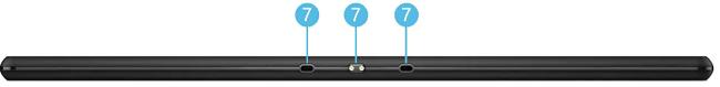 Lenovo Tab B10の底面インターフェイス