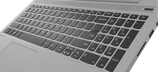 Lenovo IdeaPad Slim 550 15(AMD Ryzen 5000シリーズ)のキーボード