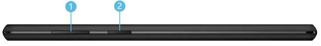 Lenovo Tab B10の側面インターフェイス