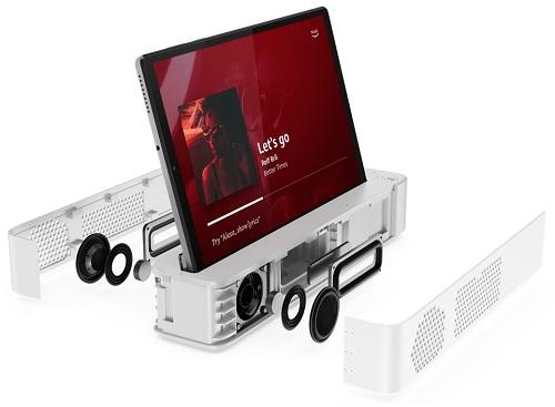 Lenovo smart dockのスピーカーの位置