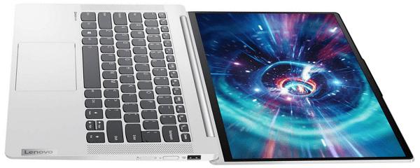 Lenovo IdeaPad 4Gのディスプレイを180度開いた状態