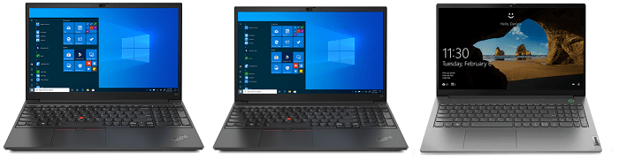Lenovo ThinkPad E15 Gen 3とThinkPad E15 Gen 2 Intel、ThinkBook 15 Gen 3の筐体比較
