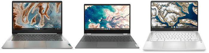 Lenovo IdeaPad Slim 360 Chromebookとライバル機種の筐体比較