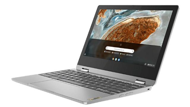 Lenovo Ideapad Flex 360 Chromebook 右斜め前から