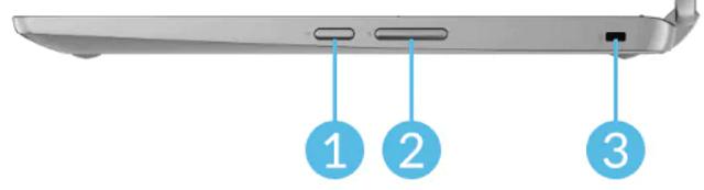 Lenovo Ideapad Flex 360 Chromebook 右側面インターフェイス