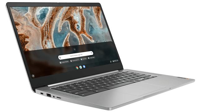Lenovo IdeaPad Slim 360 Chromebook 左斜め前から