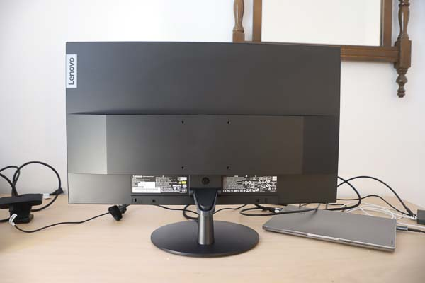 Lenovo L28u-30 モニター (28インチ)  背面