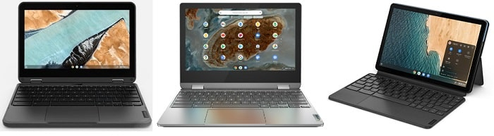 Lenovo 300e Chromebook Gen 3と比較機種の筐体