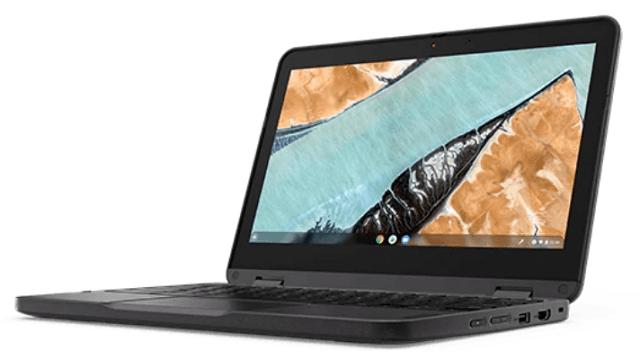 Lenovo 300e Chromebook Gen 3 右斜め前から