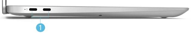 Lenovo IdeaPad S450 13.3型 左側面インターフェース