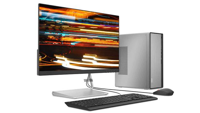 Lenovo IdeaCentre 560 AMD 付属のキーボードとマウス、別売りのモニター