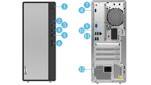 Lenovo IdeaCentre 560 AMDのインターフェース