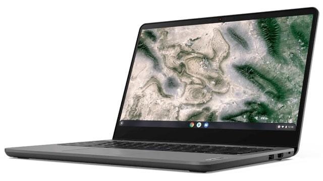 Lenovo 14e Chromebook Gen 2(AMD) 右斜め前から
