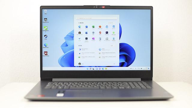Winsows 11Windows 11をインストールしたLenovoノートパソコン