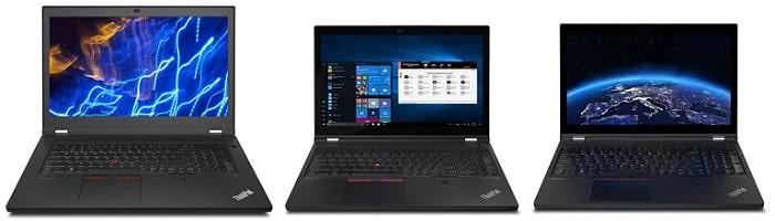 Lenovo ThinkPad P17 Gen 2と比較機種の筐体