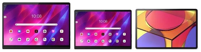 Lenovo Yoga Tab 13と比較機種の筐体