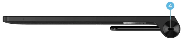 Lenovo Yoga Tab 13 左側面インターフェース