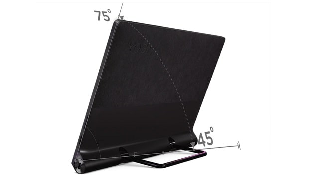 Lenovo Yoga Tab 13 背面スタンドの調整角度