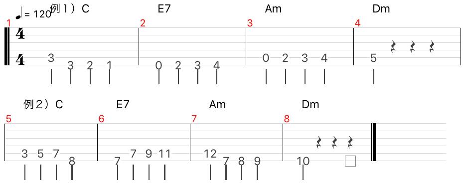 ランニングベース の作り方 ジャズ