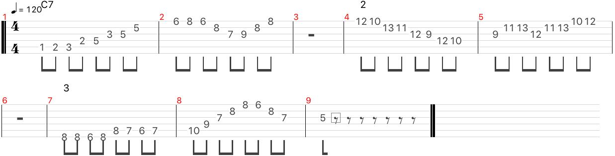 C7 アルペジオ フレーズ