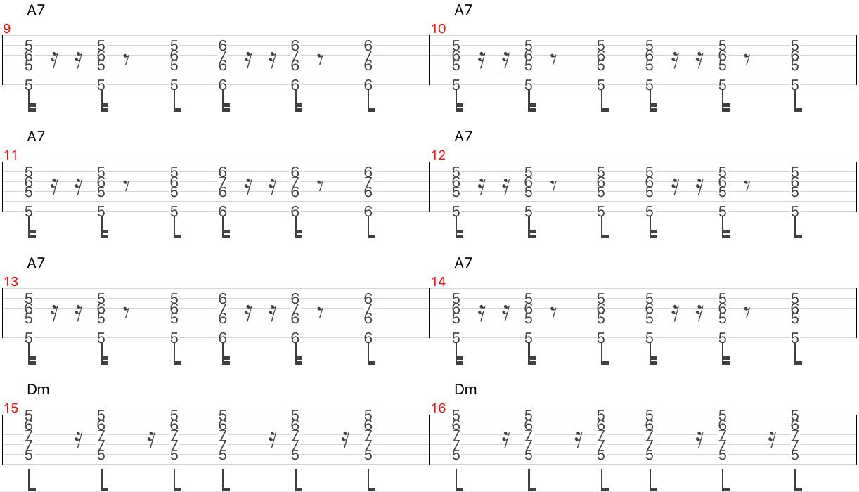 Caravan コード進行 ギター タブ