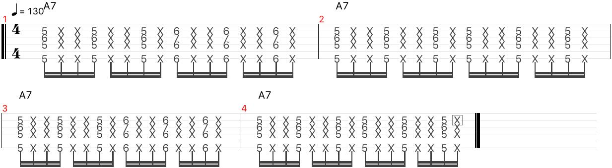 キャラバン リズムギター ストローク