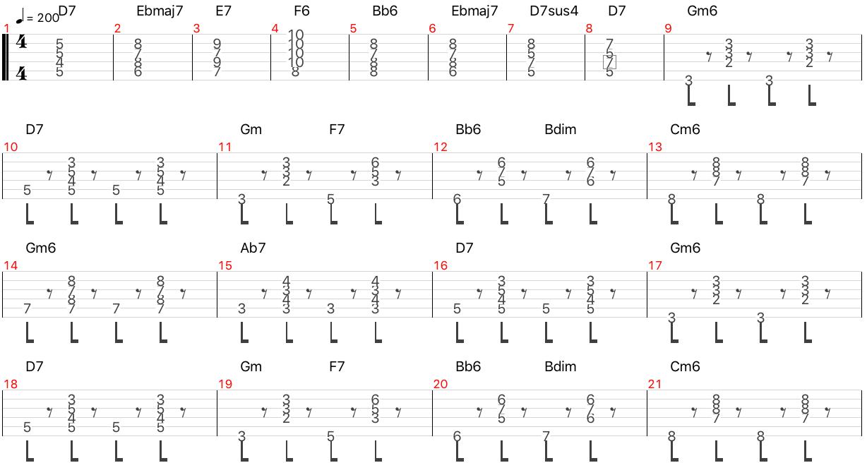 douce ambiance リズムギター コード