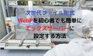 wordpressにWebPを初心者でも簡単に設定する方法・エックスサーバー