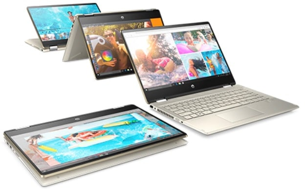 HP Pavilion x360 14-dh0000の外観・2 in 1 PC