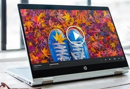 HP Pavilion x360 14-dh0000の外観・スタンドモード