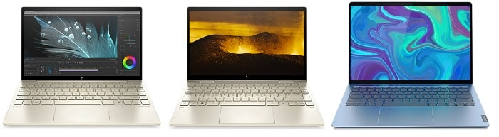 HP Envy 13-ba0000と比較機種の筐体