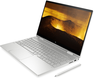 HP Envy x360(インテル)の外観・正面