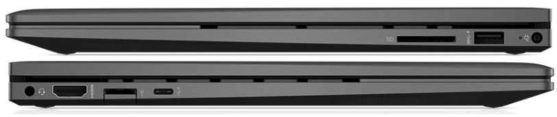 HP Envy x360 15のインターフェイス
