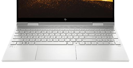 HP envy x360 15(インテル)のキーボード