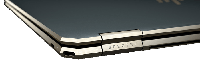 HP spectre x360 15のインターフェイス・背面角