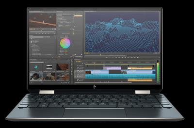 HP Spectre x360 13・画像編集をしているところ