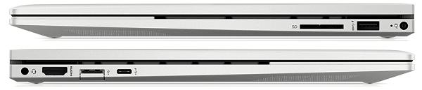 HP Envy x360(インテル)のインターフェイス
