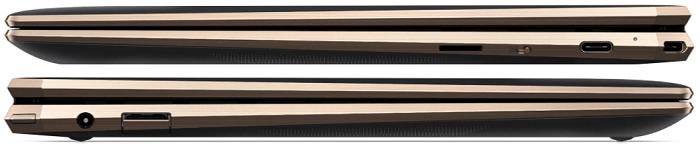 HP spectre x360 13のインターフェイス