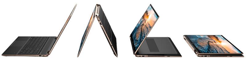HP Spectre x360 15の外観・テントモード、デスクトップモード、スタンドモード