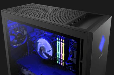 HP OMEN 30L Desktopの筐体・ライトニング