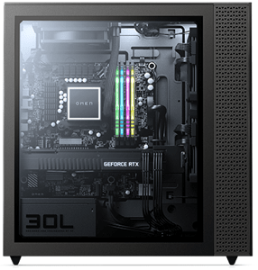 HP OMEN 30L Desktopの筐体内部