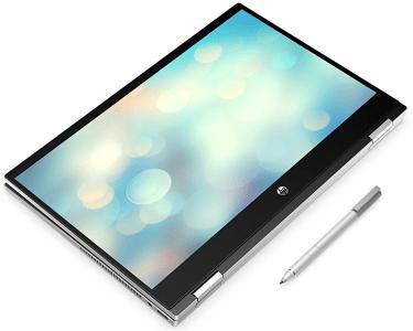 HP Pavilion x360 14-dw0000の外観・タブレットモード