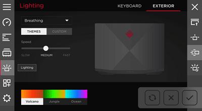 HP OMEN 2S 15のキーボードバックライト設定