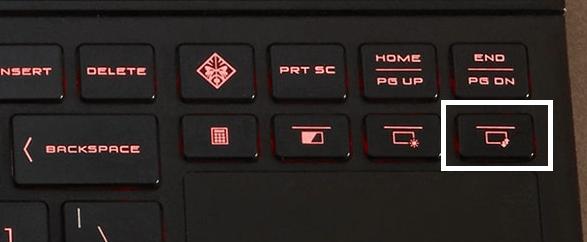 HP OMEN 2S 15の1stディスプレイとセカンドディスプレイの切り替えボタン